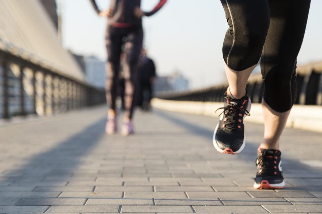 Running on sidewalk